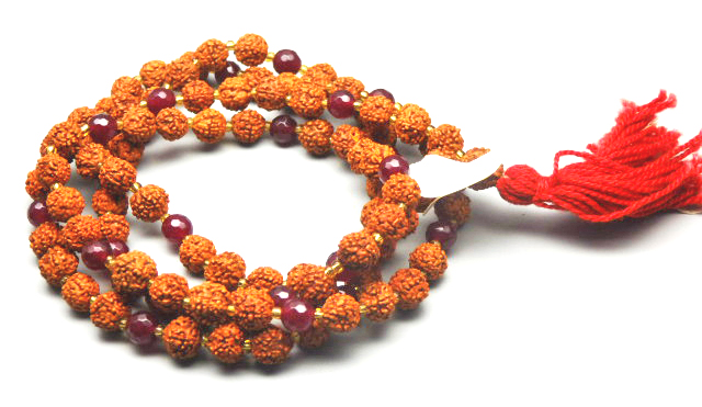 21/88 Dyed Quartz Rudraksha Mala 8.00 MM