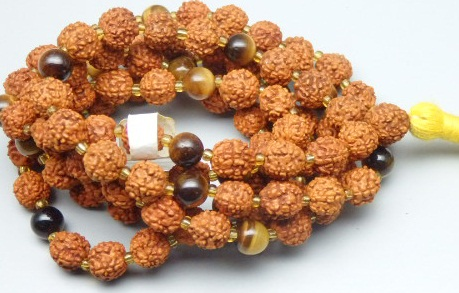 21/88 Tiger Eye Rudraksha Mala 7.50 MM