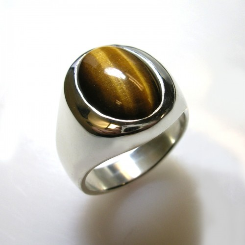 inlay ring mens eye p jewlery tiger rings