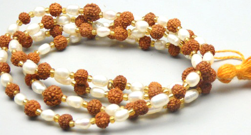 54/55 Pearl Rudraksha 5.00 MM Wheat Mala